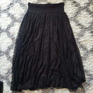 Black maxi skirt L